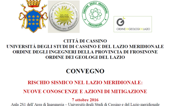 Conference in Cassino, 7 october 2016